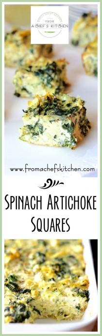 wedding photo - Spinach - Artichoke Squares