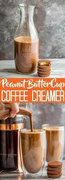 wedding photo - Homemade Peanut Butter Cup Coffee Creamer