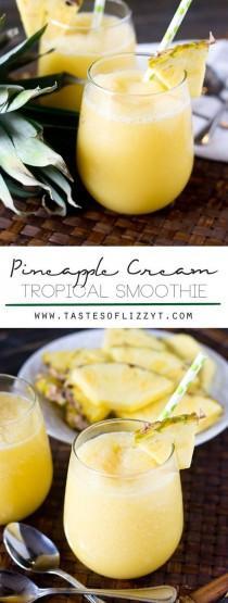 wedding photo - Pineapple Cream Tropical Smoothie
