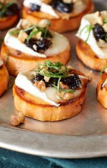 wedding photo - Prune, Yam And Brie Crostini