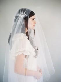 wedding photo - Lace Veil, Juliet Cap Veil, 1920s Veil, Downton Abbey Veil, Fairy Lace, Kate Moss Veil, Vintage Veil, Cathedral Veil, Woodland Veil, 1624