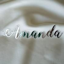 wedding photo - Laser cut names, Set of wedding place cards, wedding table signs, acrylic place cards, name cards, name cards wedding