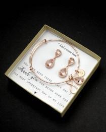 wedding photo - Morganite Earring Light Pink Blush Earrings Soft Pink Bridesmaid gifts Jewelry Rose Gold Morganite Bridal jewelry Bridesmaid gift set 4 5 6