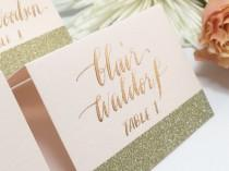 wedding photo - Wedding Place Cards, Place Cards, Escort Cards, Place Cards Wedding, Wedding Calligraphy, Navy Place Cards, Gold Place Cards, Calligraphy
