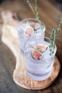 wedding photo - Thirsty Thursday: Fancy Fig Cocktails