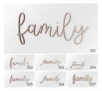 "wedding photo - Wooden Wall Decor Word ""family"", Family Sign, Wooden Sign, Wall hanging, Wooden Word, Wall decor, Famliy Wall Sign, Wall Word"