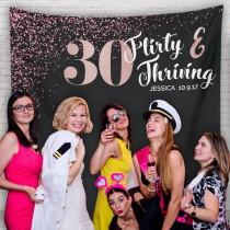 wedding photo - Dirty Thirty, Dirty 30 Party, 30th Birthday Party Decor, Dirty Thirty Banner, Dirty Thirty Decorations Backdrop/ H-T25-TP MAR1 AA3