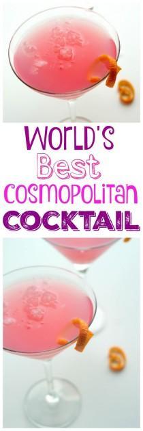 wedding photo - World's Best Cosmopolitan Cocktail