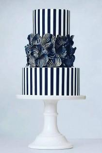 wedding photo - 30 Black And White Wedding Cakes Ideas