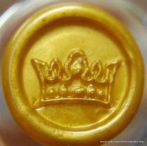 wedding photo - Crown Peel and Stick Faux Wax Seals