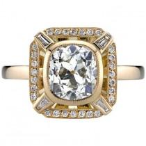 wedding photo - Yellow Gold EGL Certified Cushion Cut Diamond Engagement Ring