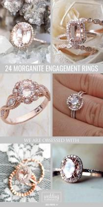 wedding photo - 30 Morganite Engagement Rings We Are Obsessed With