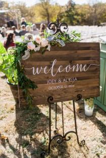 wedding photo - Wedding Welcome Sign - Rustic Wood Wedding Sign - Sophia Collection