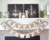 wedding photo - Happily Ever After Banner - Wedding Banner Photo Prop - Wedding Sign - Wedding Decoration- Rustic Banner- Wedding signage- Wedding banners