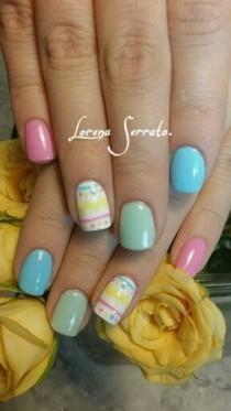 wedding photo - 21 Easy Easter Nail Designs For Short Nails