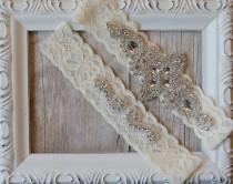 wedding photo - BEST SELLER Wedding Garter, Bridal Garter, Wedding Garter Set, Lace Bridal Garter Set, Ivory Bridal Garter Belt, wedding dress, custom
