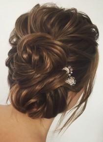 wedding photo - Gorgeous Wedding Hair Updo Hairstyle Idea