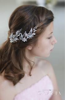 wedding photo - GLYKERIA Crystal Flower Hair Pins Wedding Hairpins Bobby Pins