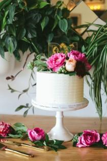 wedding photo - Outdoor Los Angeles Wedding With Ruby Red Details