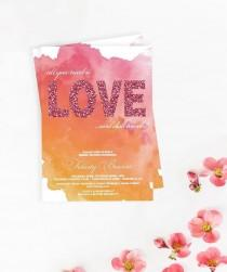 "wedding photo - ""Felicity"" Watercolor Bridal Shower Invitation"