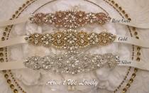 wedding photo - Bridal Belt, Bridesmaid Belt, Wedding Sash Belt, crystal bridal sash, rhinestone bridal sash, rose gold bridal belt, bridal belt, wedding