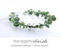 wedding photo - Dainty eucalyptus crown, eucalyptus wreath, greenery wedding, greenery crown, eucalyptus wedding, bohemian crown, greenery wreath, artificia