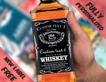 wedding photo - Custom Label Personalised Custom Whiskey Label Liquor bottle label Personalised Bottle Bestman or Groomsman