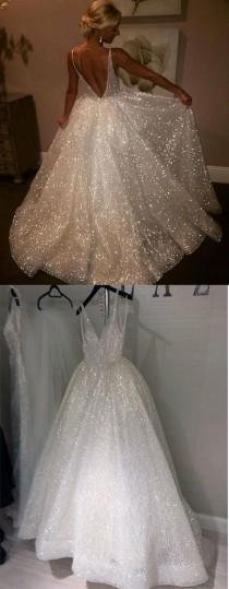 wedding photo - Charming Backless Sequined A Line Long Prom Dresses,Formal Women Dress OK923