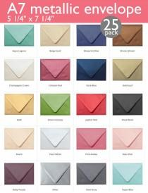 "wedding photo - A-7 Metallic Euro Flap Envelopes (5 1/4"" x 7 1/4"") (25 Envelopes)"