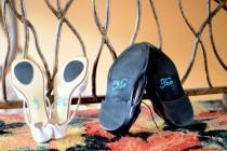 wedding photo - I Do and Me Too Rhinestone Shoe Stickers - Crystal Shoe Set - Bride and Groom Shoe Decals
