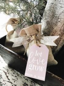 wedding photo - Tree Wedding Favor Kits , Wedding Favor Tags, Let Love Grow, Saplings, Gift Tags, Custom Wedding Favors, Wedding, Shower, Garden, Set Of 24