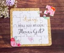 wedding photo - Will You Be My Flower Girl Puzzle, Flower Girl Gift, Flower Girl Proposal, Will you be my, Flower Girl Cute Gift