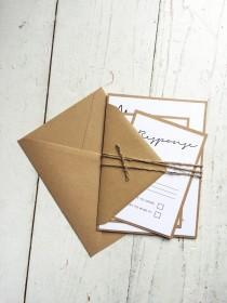 wedding photo - Rustic elegant wedding invitation set, Rustic wedding, Elegant invitation, shabby chic wedding invitation