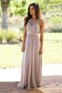 wedding photo - Gray A Line Fleer Length Sheer Neck Sleeveless Appliques Cheap Bridesmaid Dress B224