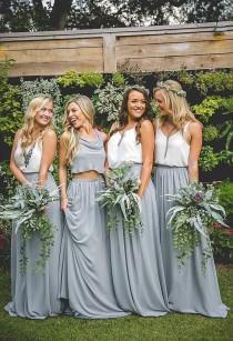 wedding photo - Boho Style Bridesmaids Chiffon Separates