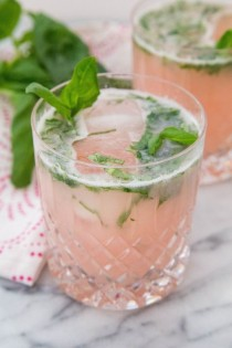 wedding photo - Rhubarb Basil Cocktail