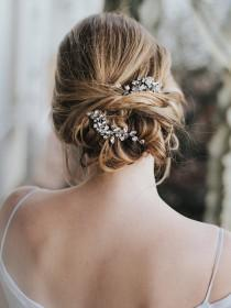 "wedding photo - Wedding Hair Accessories, Bridal Hair Pin, Bridal Hair Accessories, Bridal Headpiece ~ ""Addison"" Wedding Hair Pin in Silver, Gold, Rose Gold"