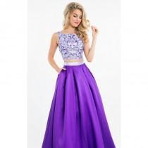 wedding photo - Lilac/Purple Two-Piece Mikado Gown by Rachel Allan - Color Your Classy Wardrobe