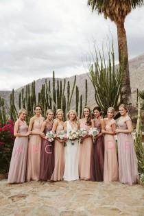 wedding photo - A Line Floor Length Sleeveless Layers Tulle Cheap Bridesmaid Dress B206