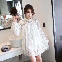 wedding photo - Sweet Hollow Out Crochet A-line Bishop Sleeves Summer Tie Lace Dress - Discount Fashion in beenono