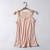 wedding photo - Chiffon One Color Summer T-shirt Sleeveless Top - Discount Fashion in beenono