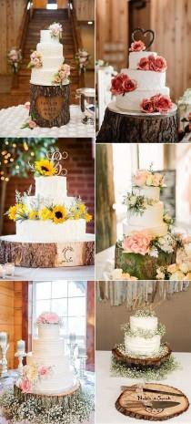 wedding photo - 28 Country Rustic Wedding Decoration Ideas With Tree Stumps