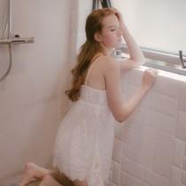 wedding photo - Elegant Sexy Eyelash Lace Outfit Strappy Top Short Sleepy Dress Pajama - Bonny YZOZO Boutique Store