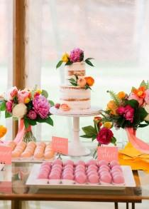wedding photo - A COLOURFUL MODERN WEDDING WITH BRIGHT FLORALS, PINK SHOES & A DONUT DESSERT BAR