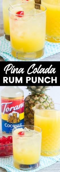 wedding photo - Pina Colada Rum Punch