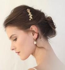 wedding photo - leaf hair comb, bridal hair accessories, bridal hair comb, Greek Branch Hair Comb,  leaves Hair, Wedding Hair Accessories, gold leaf hair