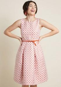 wedding photo - Sixties Sparkle Fit And Flare Dress In Waxflower