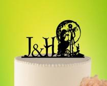 wedding photo - Wedding Cake Topper - jack and sally cake topper - jack sally wedding - wedding decor  jack and sally - Wedding Cake Topper jack  L2-01-003