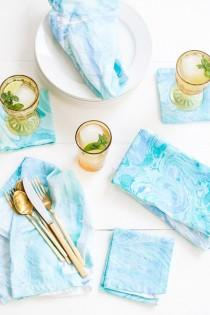 wedding photo - DIY Fabric Marbling
