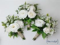 wedding photo - Boho Bridesmaid Bouquet, Silk Flowers, Silk Wedding Bouquet, Bouquet, Boho Bouquet, Faux Bouquet, Bridesmaid Bouquet, Rustic Bouquet, Fall